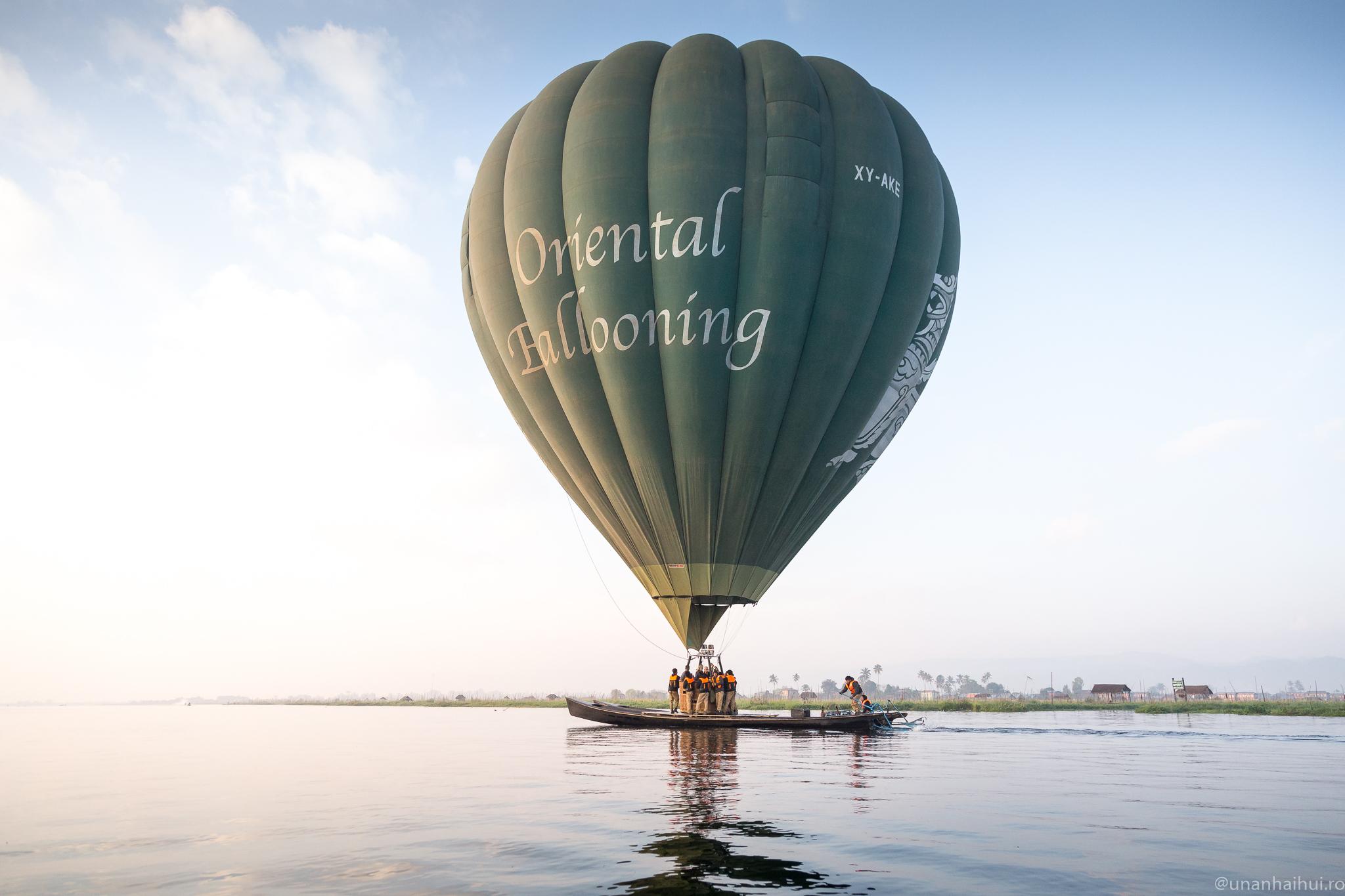 Zbor cu balonul peste Bagan și Inle Lake. Myanmar la înălțime.