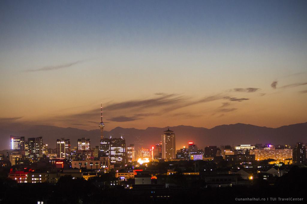 Panorama orasului, din parcul Jangshou